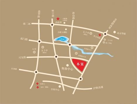 城建琥珀五环城交通图