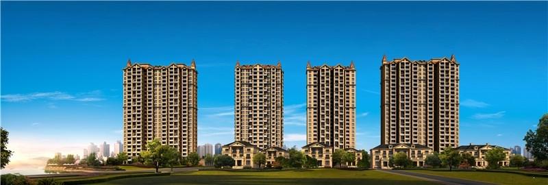 半岛1号高层住宅透视图