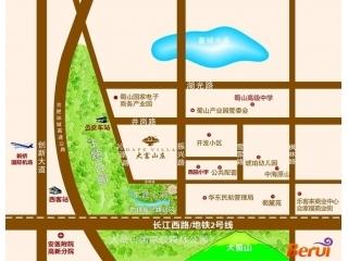 大富山庄交通图