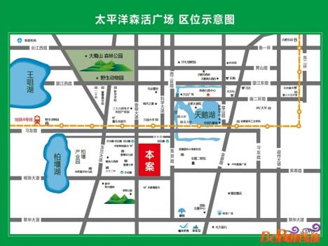 太平洋森活广场·SOHO交通图