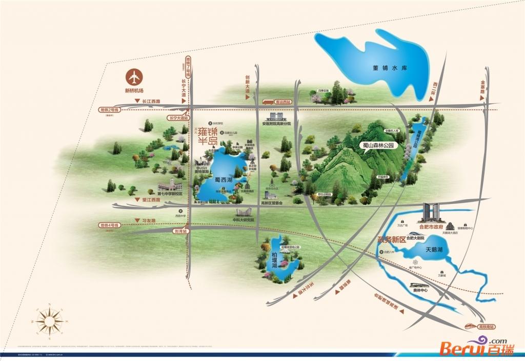 蓝光雍锦半岛区位图