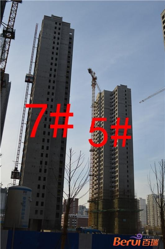 徽盐世纪广场12月7#外立面建设中