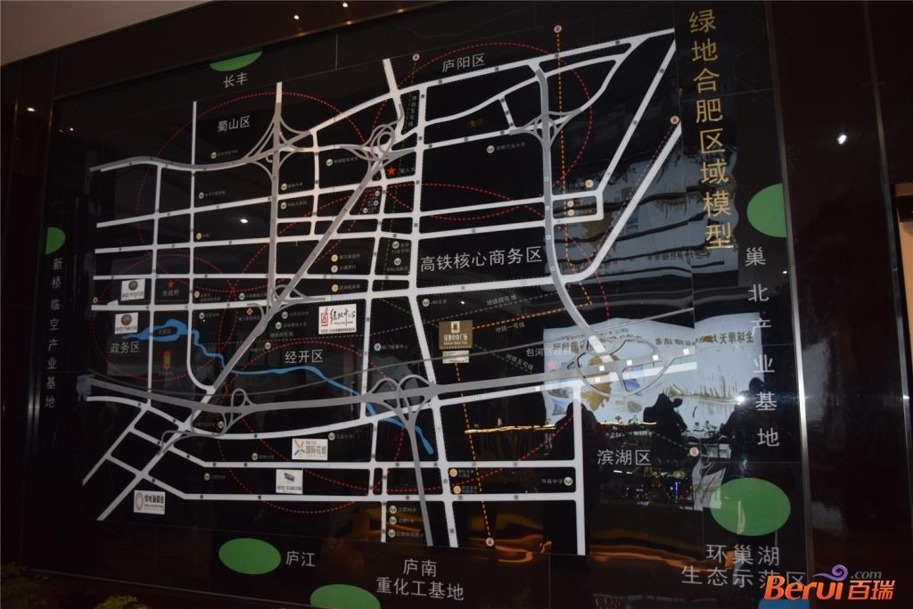 绿地中心区位图