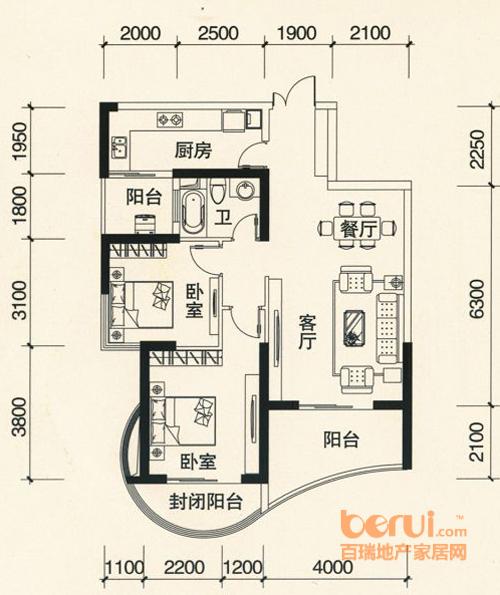 森林海6#楼H户型