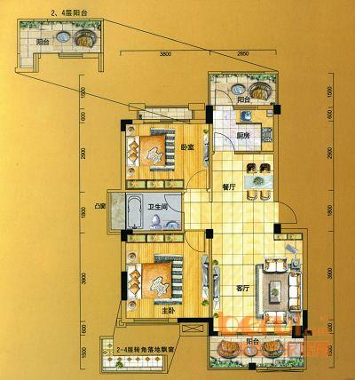 金水童话名苑16#楼A1户型