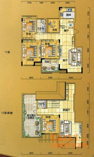 金水童话名苑16#楼H复式户型