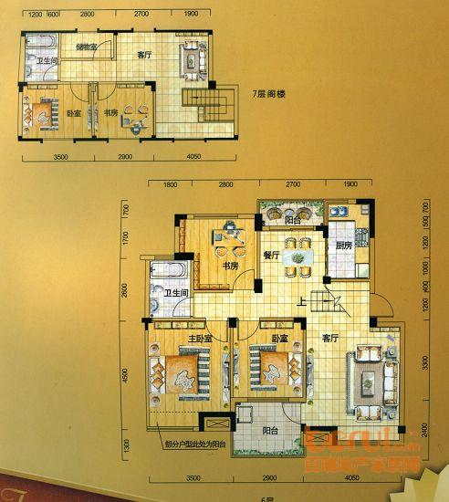 金水童话名苑14#楼C2复式户型