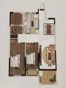3室2厅1卫104㎡