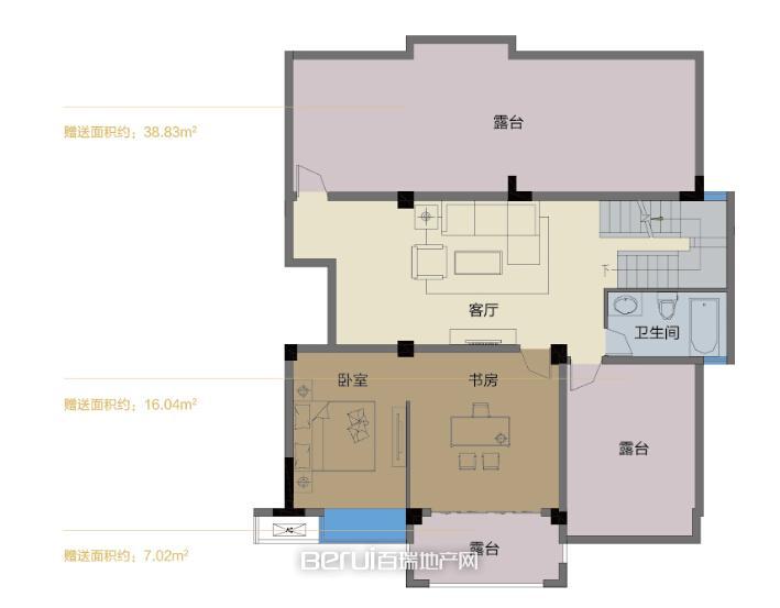 2室1厅1卫88.51㎡