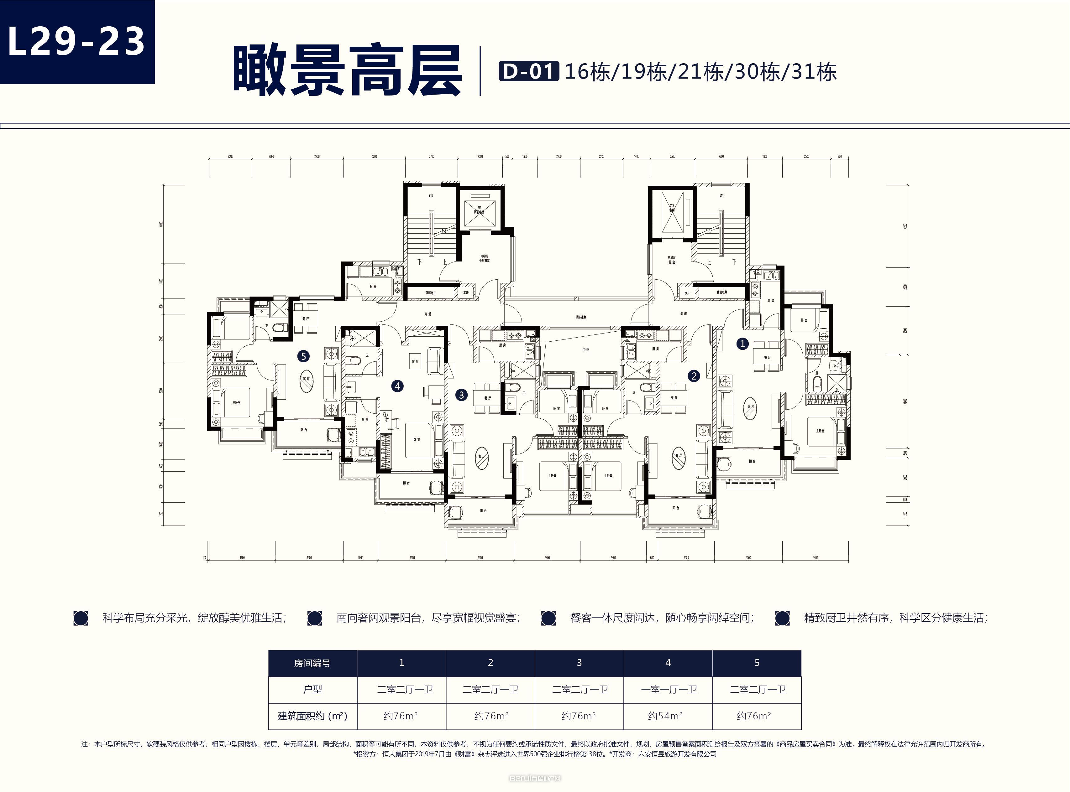 新滨湖恒大文化旅游城户型图